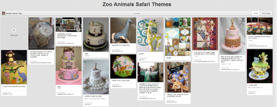 Zoo Theme Board by My Baby Shower Shop on Pinterest
