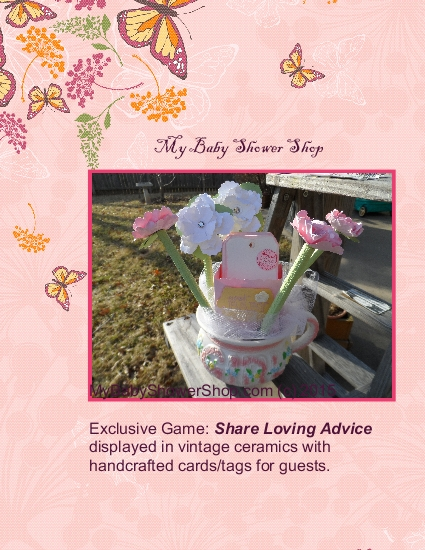 Share Loving Advice Game (c) 2015 exclusive by MyBabyShowerShop.com